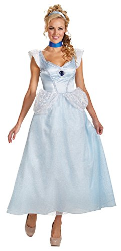 Plus Size Adult Deluxe Cinderella Costumes (UHC Women's Princess Cinderella Deluxe Disney Theme Party Halloween Costume, 2XL (22-24))