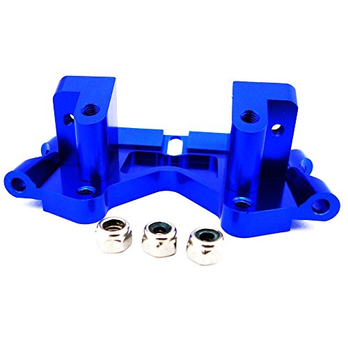 Traxxas Rustler 1:10 Aluminum Alloy Front Lower Bulkhead Hop Up Upgrade, Blue by Atomik RC - Replaces Traxxas Part 2530