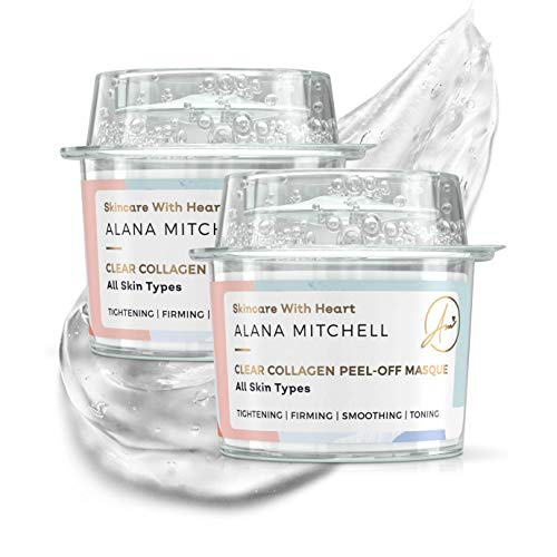 Anti Aging Peel Off Collagen Face Mask For All Skin Types By Alana Mitchell Instantly Reduces Wrinkles & Fine Lines - Tightening Firming Smoothing & Toning - All Natural ()