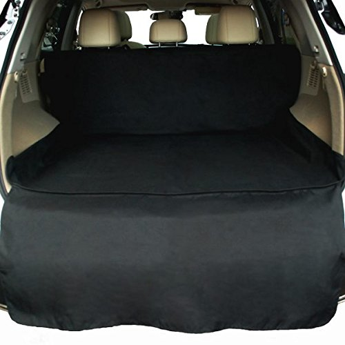 NAC&ZAC Waterproof SUV Cargo Liner, Pet Seat Cover with Extra Bumper Flap, Machine Washable Dog Cargo Cover (Best Selling 3 Row Suv)