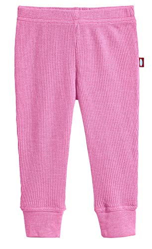City Threads Baby Boys and Baby Girls Soft Cotton Thermal Cuffed Baby Newborn Infants Pants Joggers for Sensitive Skin or SPD Sensory Friendly Clothing, Medium Pink, -