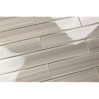 Giorbello Glass Subway Backsplash Tile 3 X 6 True Gray Sample