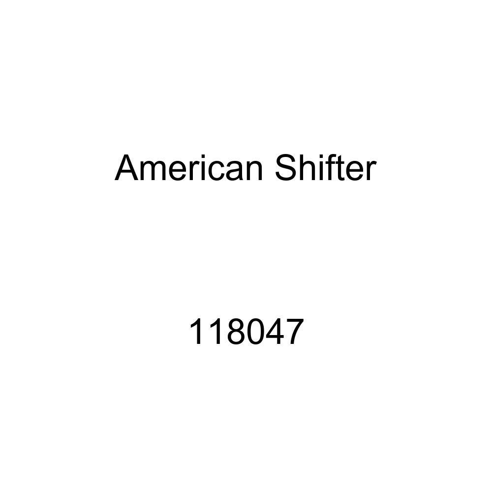 American Shifter 118047 Red Stripe Shift Knob with M16 x 1.5 Insert Black Shift Pattern CP11n