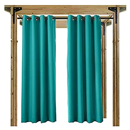 Cololeaf Outdoor Curtains For Patio Waterproof 108 Inches Solid Cabana Grommet Top Window Curtain Panel