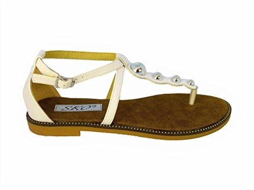 3 X1712 Sandales White Femme SKO'S pour cTXPpqcO