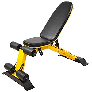 HulkFit Heavy Duty Adjustable and Foldable Utility Weight Bench for Upright, Incline, Decline, and Flat Exercise, 1000-Pound Capacity