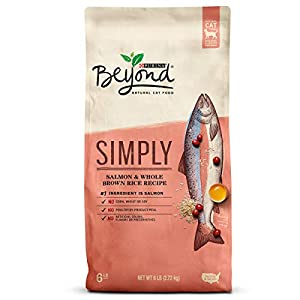 Purina Beyond Natural Limited Ingredient Dry Cat Food; Simply Salmon & Whole Brown Rice Recipe - 6 lb. Bag 93