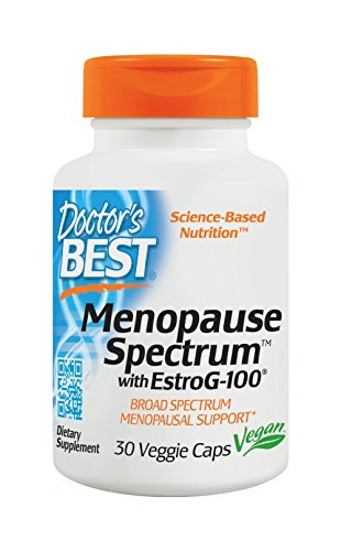 Doctor's Best Menopause Spectrum with EstroG-100, Non-GMO, Vegan, Gluten Free, Soy Free, 30 Veggie Caps (Doctors Best Natural Vitamin)
