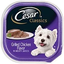 Cesar Soft Wet Dog Food Classic Loaf in Sauce Grilled Chicken Flavor Multipack, 12 3.5 oz. Easy Peel Trays