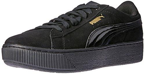 Puma Vikky Platform, Tennis Femme, Black Black, 37 EU Noir (Black-black)