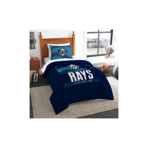The Northwest Co mpany MLB Tampa Bay Rays Grandslam Twin 2-piece Comforter Set (Bed Tampa Bay Rays)