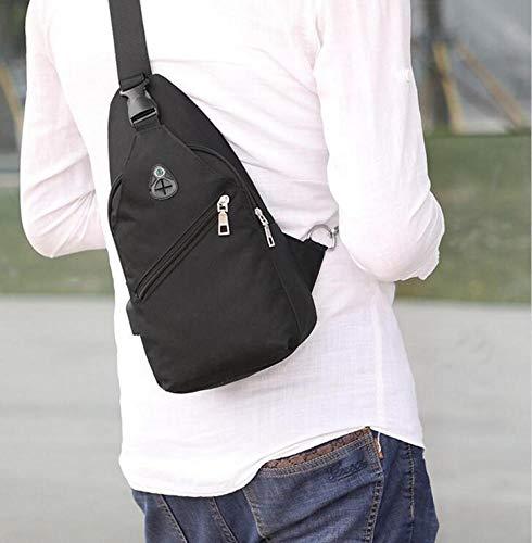 Messenger Youth Noir Hommes Simple Frv Sac Bandoulière Pour Sport Bag Tide À q866waxvS
