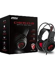 سماعة رأس للألعاب مع ميكروفون من ام اس اي، مزودة بتقنية تحسين الصوت المحيط الافتراضي 7.1، ونظام اهتزاز ذكي (DS502) DS 502