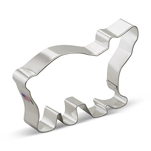 Polar Bear Cookie Cutter<br>5.5 Inches - Tin Plated Steel