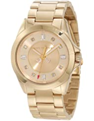 Juicy Couture Womens 1901035 Stella Mini Gold Plated Bracelet Watch