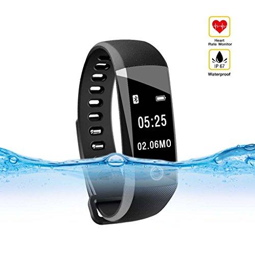 Fitness Tracker,Qcute IP 67 Waterproof Smart Bracelet with