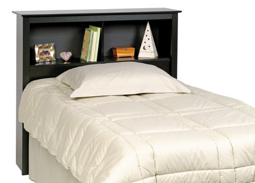 Sonoma Black Twin Bookcase Headboard (Prepac Sonoma Twin Bookcase Headboard -)