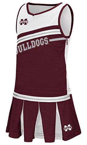 Cheerleader Dress Piece 2 (Mississippi State Bulldogs NCAA Toddler
