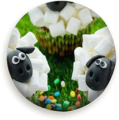 Tire Cover Funny Sheep Cupcakes Easter Treats Food And Drink Adorable Holidays Polyester Universal Spare Wheel Tire Cover Wheel Covers Jeep Trailer Rv Suv Truck Camper Travel Trailer Accessories (14,