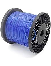 Forever Speed Hilos de Trimmer Césped Hilo de corte Rosca de repuesto Trimmer de césped Hilo de nylon Línea de recorte 5 bordes Diámetro 2.4 mm x 100 metros - Azul