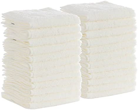 12 new white 100/% cotton pacific mills 12x12 washcloths hotel buy 4 get 2 free