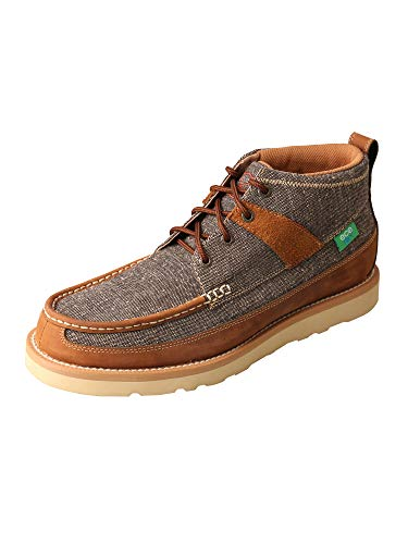 Twisted X Men's ECO B Toe Casual Loafers Lace Accent Slip-On Shoes - Dust/Brown