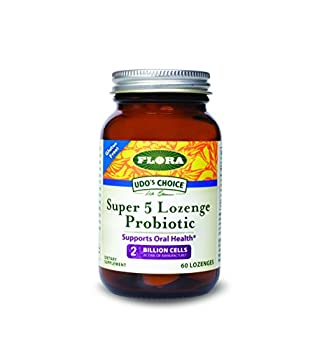 Udo's Choice - Super 5 Probiotic Lozenges - 60 count