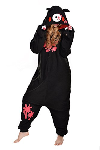 NEWCOSPLAY Halloween Unisex Adult Pajamas Costume Cosplay (M, Black Gloomy -