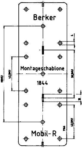 Hager INTEGRO Schablone Montage Carton: Amazon.de: Baumarkt