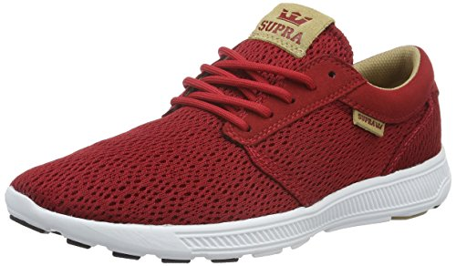 Supra Men's Hammer Run Red/Tan/White Running Shoe 9.5 Men US