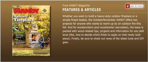 HANDY: Handyman Club of America Magazine (ISSN: 1531-569X) (October/November 2009 -