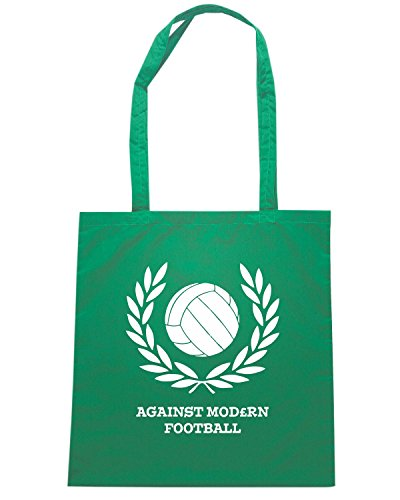 T-Shirtshock - Bolsa para la compra TUM0159 AGAINST MODERN FOOTBALL Verde