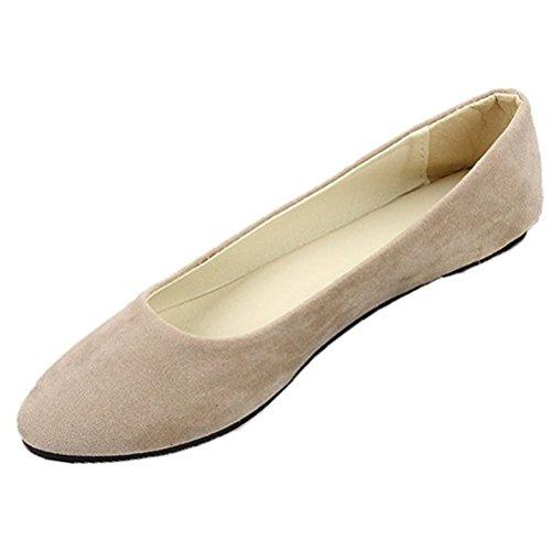 Donalworld Dames Comfort Ballet Basic Ronde Platte Schoenen Col9