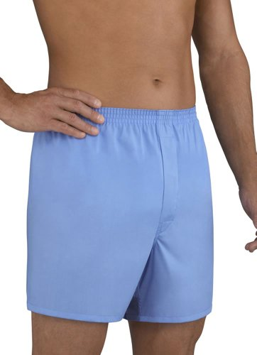 Mens Underwear Big Man Full Cut Solid Boxer - 2 Pack, fisherman blue, 3XL