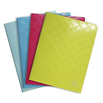 Image of Presentation Products Exacompta 1928 PP Display Books, A4, 20 Pockets - Assorted Colours, Pack of 20