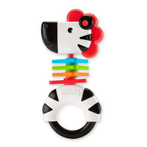 Fisher-Price Zebra Rattle Easy to Grasp (Rattle Newborn Fisher Price)
