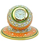 Kriti Creations Meenakari Marble Clock