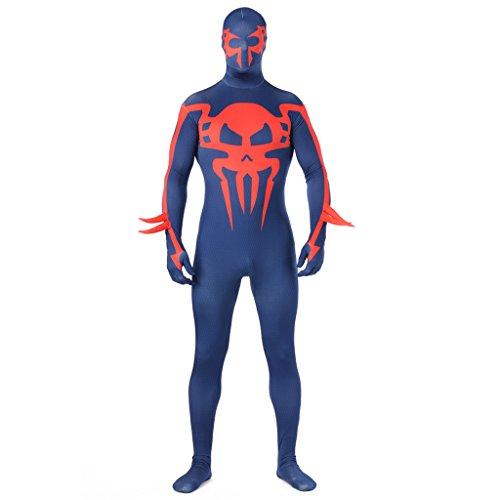 [CosplayDiy Adult Costume Spiderman Zentai Suit S] (Blue Spiderman Suit)