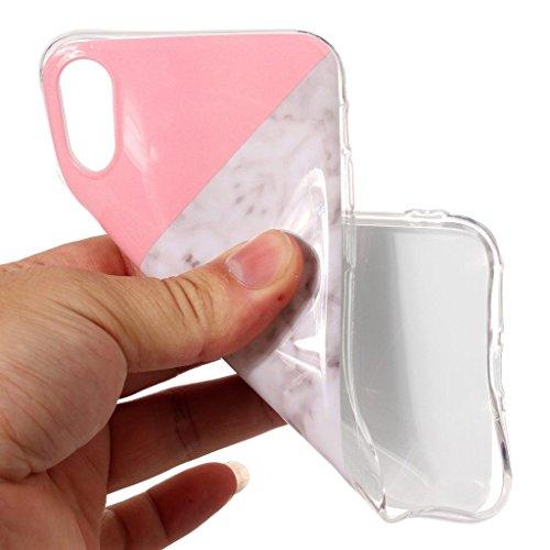 Custodia per AppleiPhoneX(5,8pouces) ,JIENI Protezione TPU Marmo naturale naturale di alta qualità Tre colori Morbido Bumper Cover Silicone Case per AppleiPhoneX(5,8pouces)