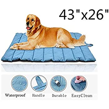 Gowild Oversize Cool Pets Bed Mat Waterproof Outdoor Travel Dog Mats Indoor Bed Mats for Large Dog
