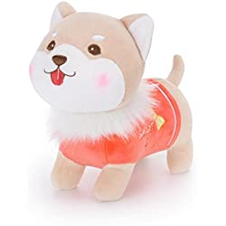 Gbell Child Kids Toddler Fluffy Stuffed Plush Puppy Animal Doll Toys (Orange)