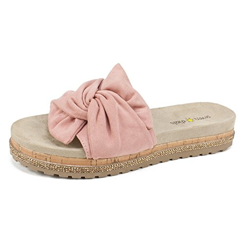 (SEVEN DIALS Shoes Diva Women's Sandal, Dusty Rose/Suedette, 8H M)