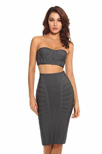 Bustier Knee Length Dress - 9