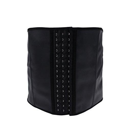 Imurz Men's Tummy Control Steel Boned Waist Trainer Workout Sport Shapewear (Black, 2XL)