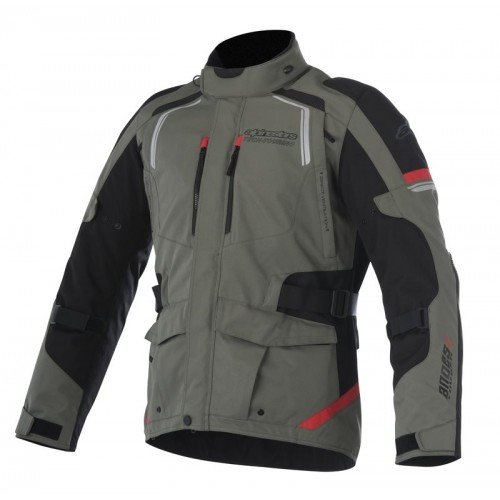- Alpinestars Andes v2 Drystar Jacket (LARGE) (MILITARY GREEN/BLACK/RED)
