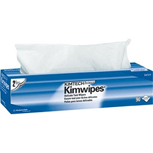 Kimtech Science Kimwipes Wipers, 2-Ply, 14 11/16'' x 16 19/32'', 15 Boxes/90 ea