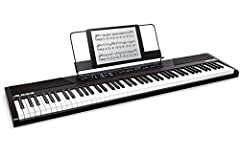 Premium Feel and SoundThe Alesis Recital is a full-featured digital piano with 88 full-sized semi-weighted keys with adjustable touch response. The Recital features 5 realistic built-in voices: Acoustic Piano, Elect...
