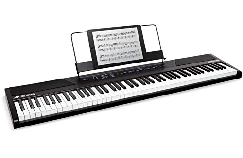 Alesis Recital | 88-Key Beginner Digital Piano with Full-Size Semi-Weighted Keys, Power Supply, Built-In Speakers and 5 Premium Voices (Amazon Exclusive)