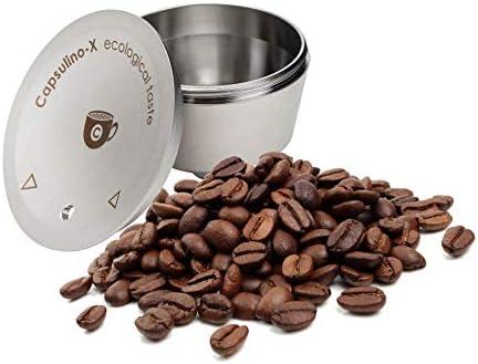 Ideale anche per tisane e infusi Capsul-inoX Capsule Riutilizzabili per Macchina Caff/è Made in Italy Acciaio Inox Capsule Ricaricabili compatibili con Dolce Gusto