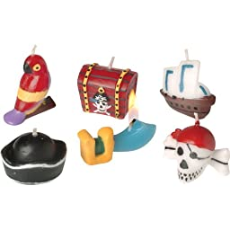 Pirate Birthday Cake Candles (6 Piece)